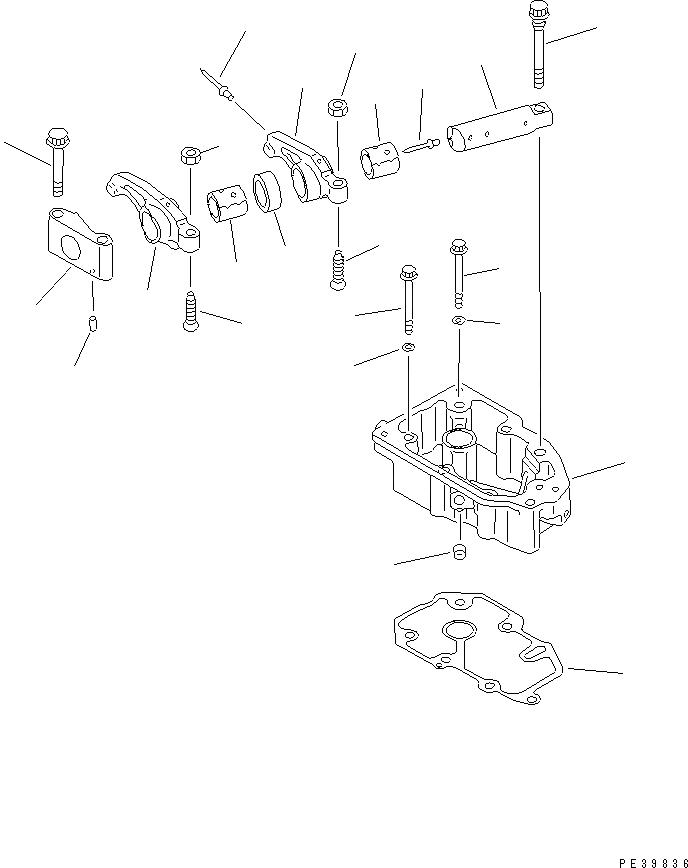 6210-11-7830 Komatsu Прокладка корпуса коромысел