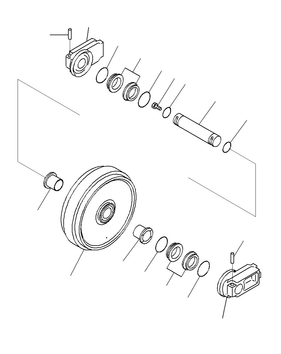 20Y-30-31650 Komatsu ОПОРА / СУППОРТ