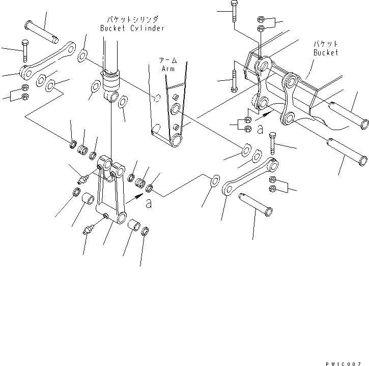 20Y-70-32351 Komatsu Втулка