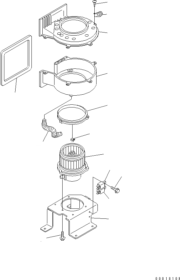 ND116221-3010 Komatsu ВЕНТИЛЯТОР