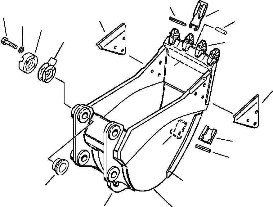 205-70-74381 Komatsu Втулка грибок во фланец