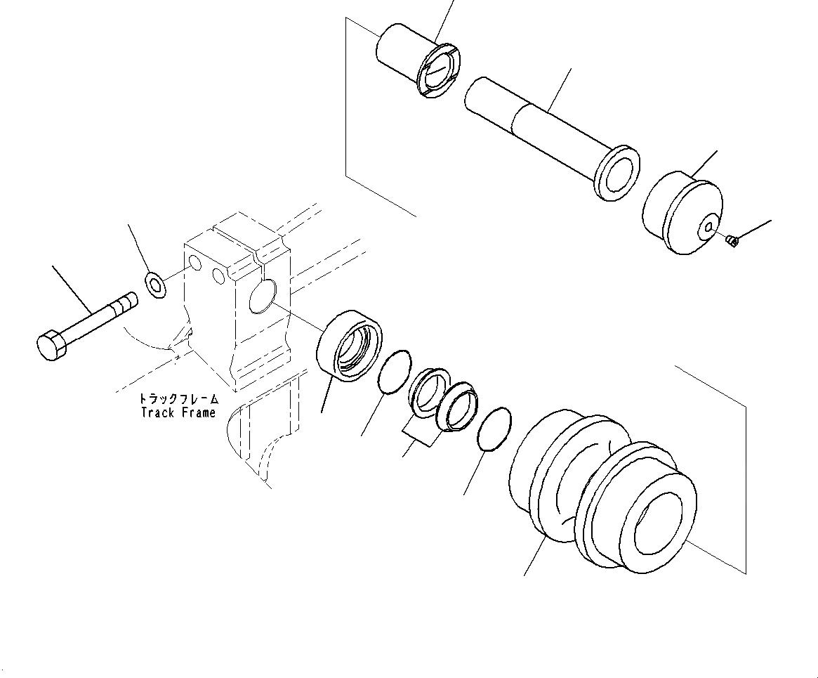 20Y-30-00481 Komatsu Каток поддерживающий