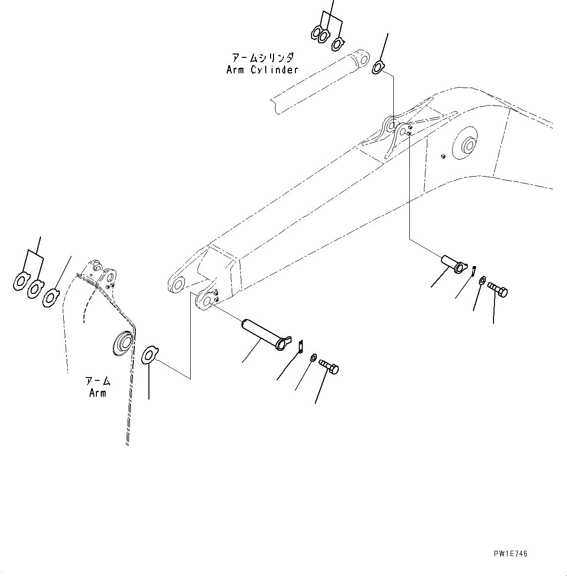 205-70-65681 Komatsu ПАЛЕЦ