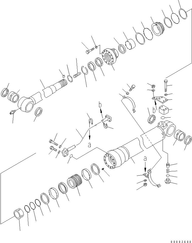707-76-80560 Komatsu ВТУЛКА
