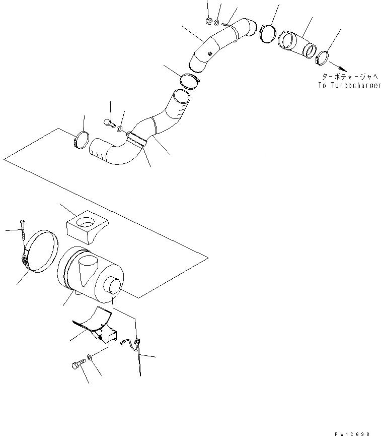 207-01-72160 Komatsu ШЛАНГ