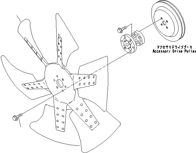 600-635-7870 Komatsu Крыльчатка