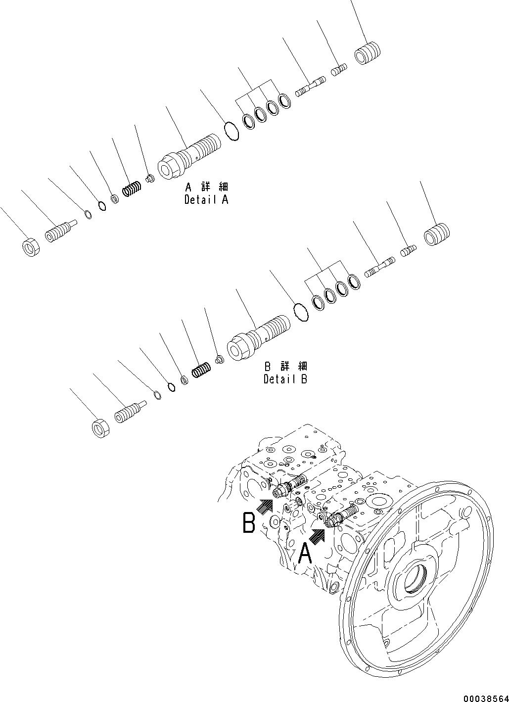 708-2G-03710 Komatsu КЛАПАН