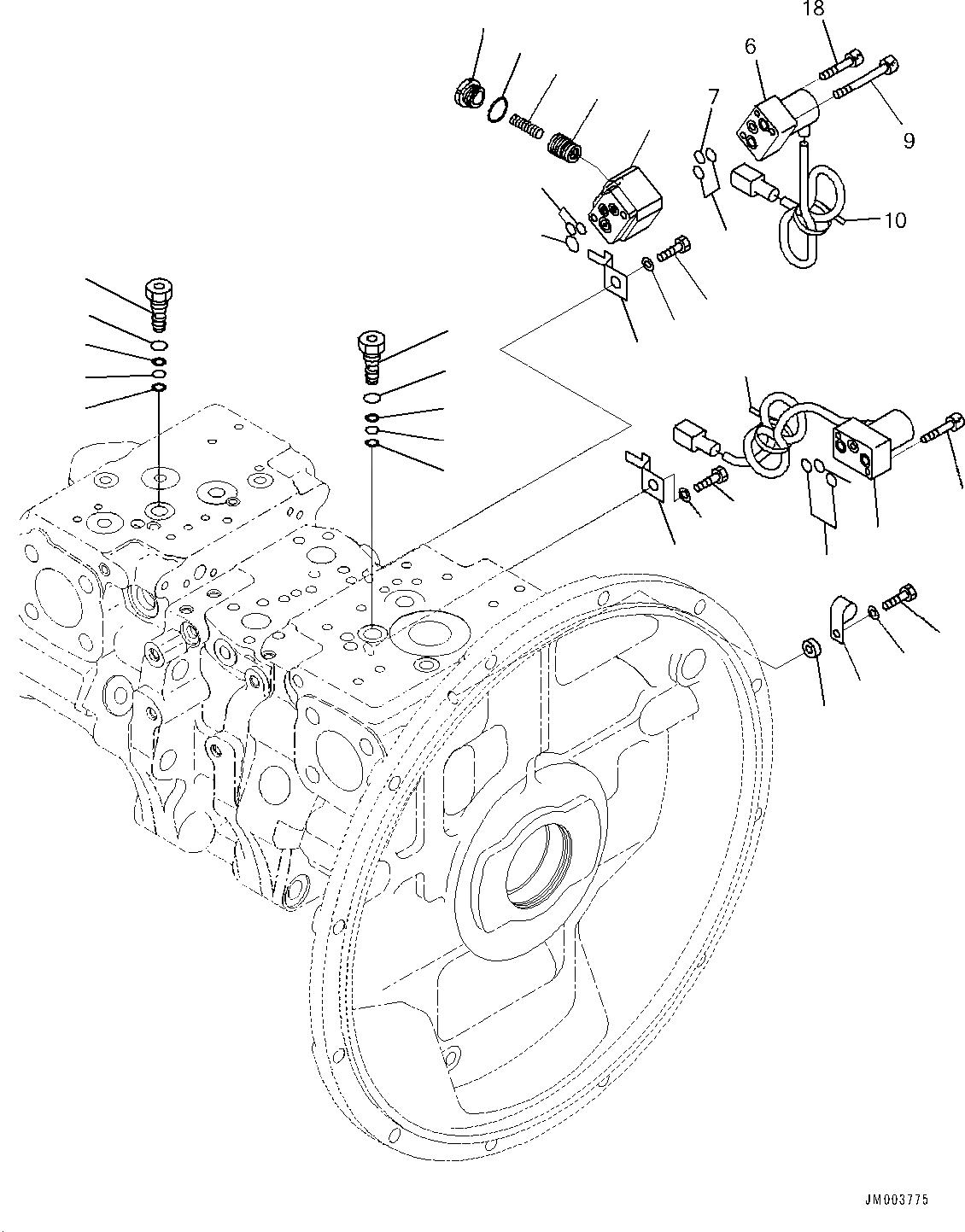 702-21-56600 Komatsu КЛАПАН В СБОРЕ