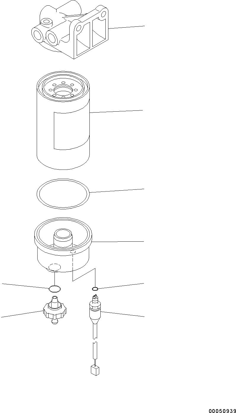600-319-3602 Komatsu ФИЛЬТР В СБОРЕ