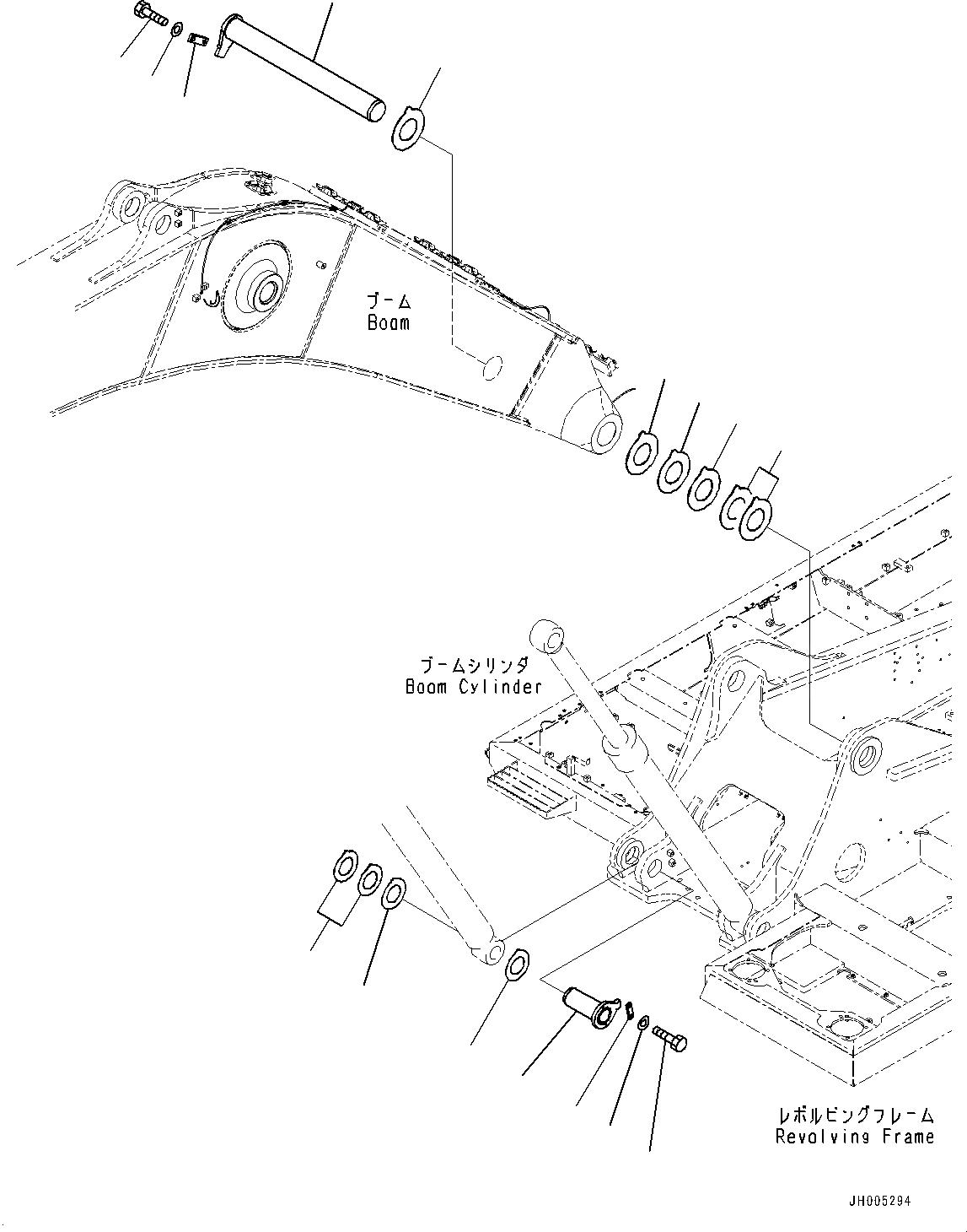 207-70-71130 Komatsu Палец