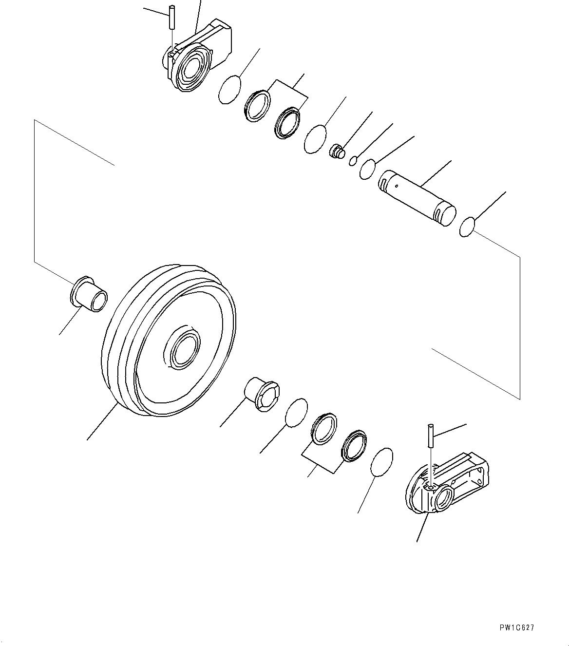207-30-00161 Komatsu Колесо направляющее