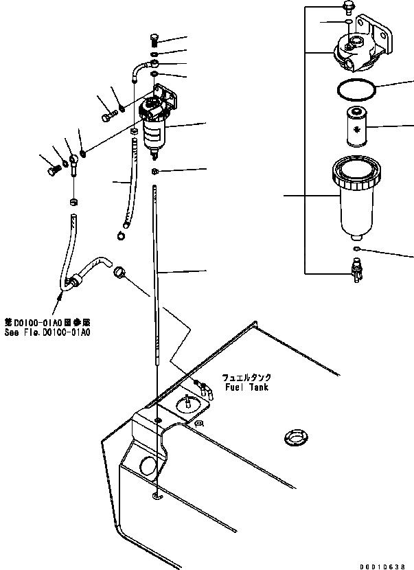 22U-04-21260 Komatsu ФИЛЬТР