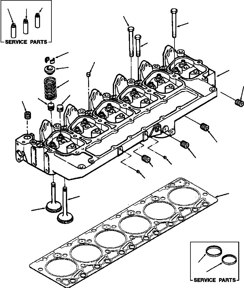 6736-41-4110 Komatsu Клапан впускной