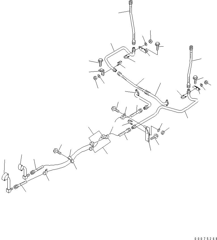 07102-21021 Komatsu ШЛАНГ