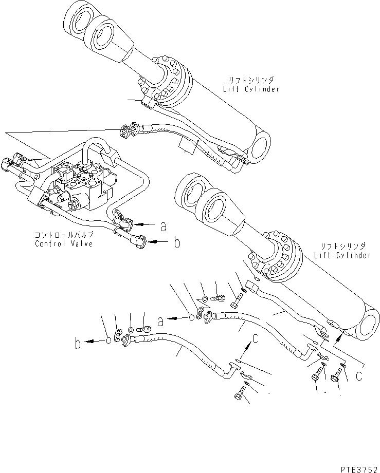 07124-01212 Komatsu ШЛАНГ