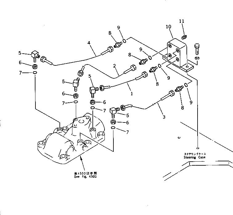 07211-50508 Komatsu НИППЕЛЬ
