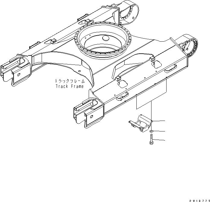 20Y-30-31160 Komatsu Защита катка