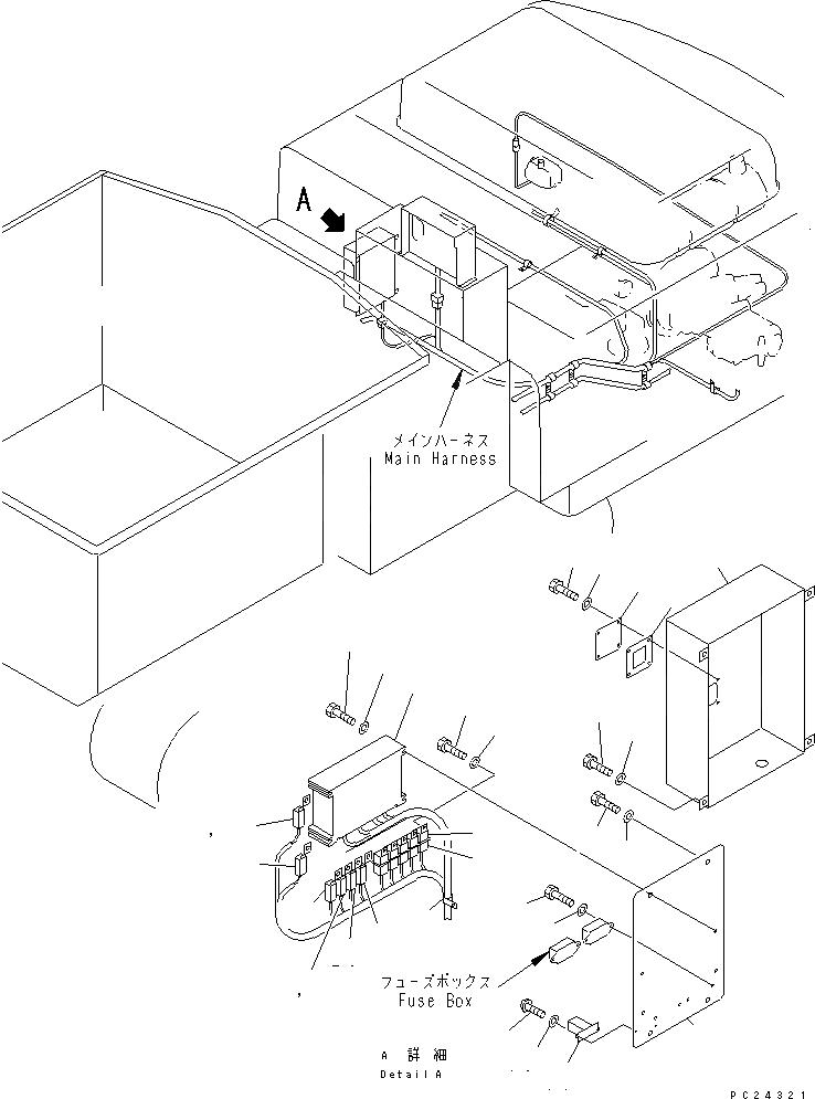 08055-00282 Komatsu СОЕДИНИТЕЛЬ