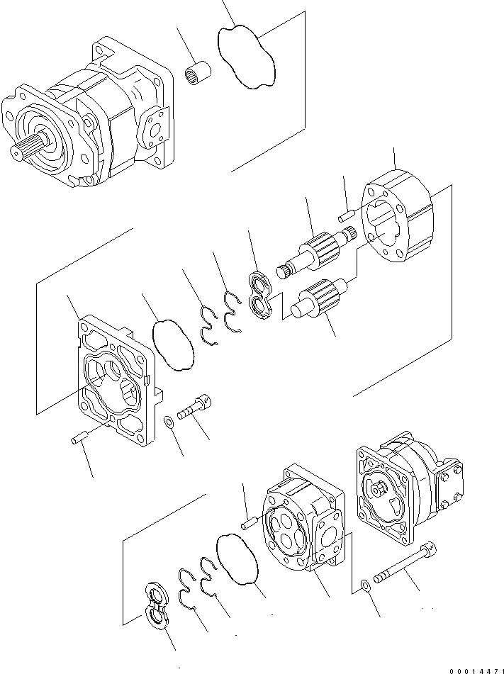 705-17-02612 Komatsu ПЛАСТИНА КРЕПЕЖНАЯ СТАЛЬ