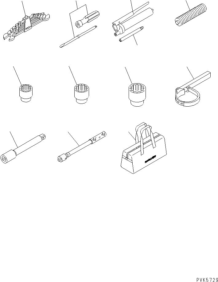 09000-30006 Komatsu НАБОР ГАЕЧНЫХ КЛЮЧЕЙ