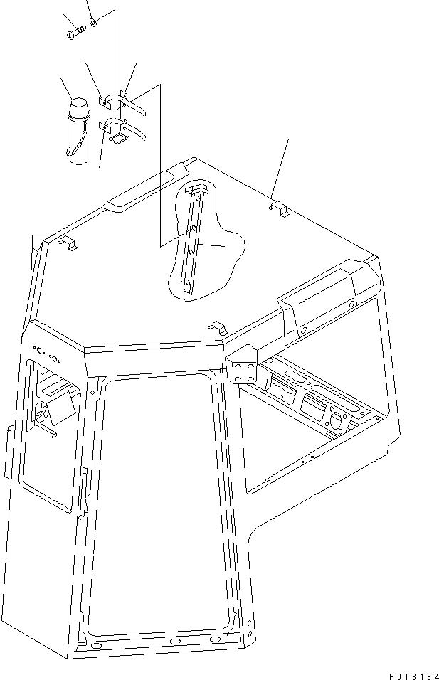 01642-20508 Komatsu ШАЙБА ПЛАСТИКОВАЯ ДЕКОРАТИВНАЯ