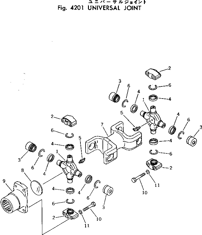 113-12-32110 Komatsu КРЕСТОВИНАМУФТЫ