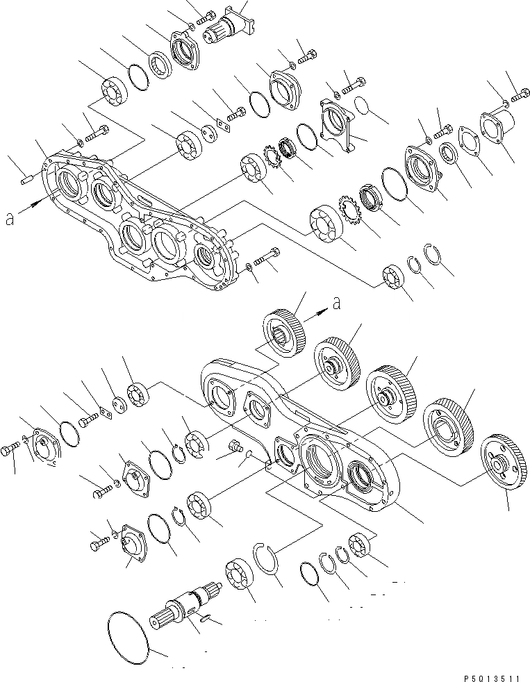 195-38-11210 Komatsu Вал механизма отбора мощности