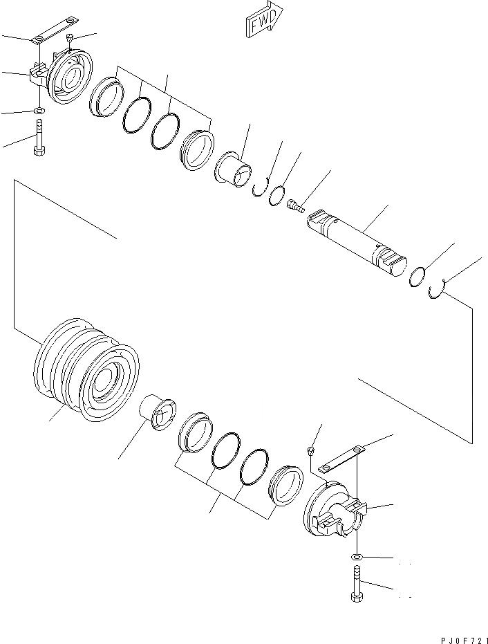 11Y-30-00040 Komatsu ОПОРНЫЙ КАТОК В СБОРЕ