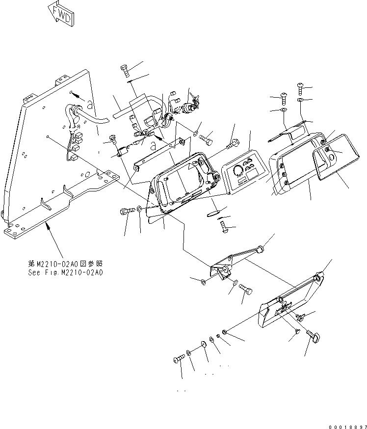 22B-06-11910 Komatsu ПЕРЕКЛЮЧАТЕЛЬ