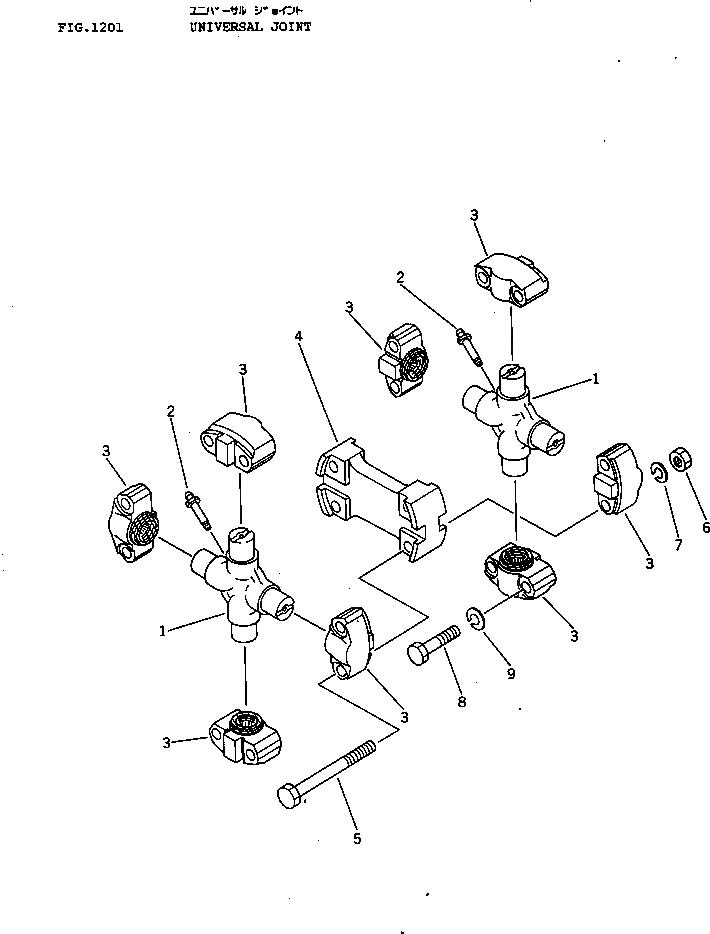 120-10-33311 Komatsu УНИВЕРСАЛЬНАЯ МУФТА