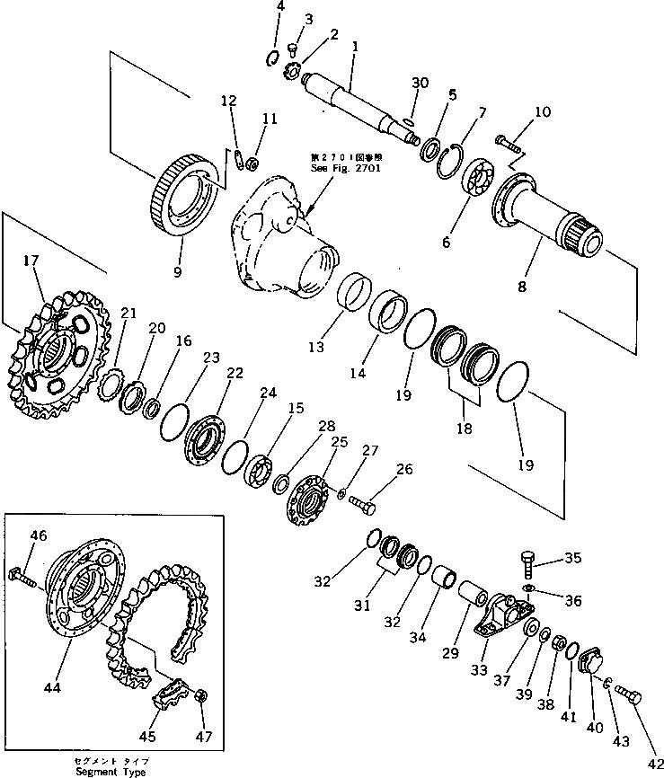 120-27-32213 Komatsu ЗВЕЗДОЧКА