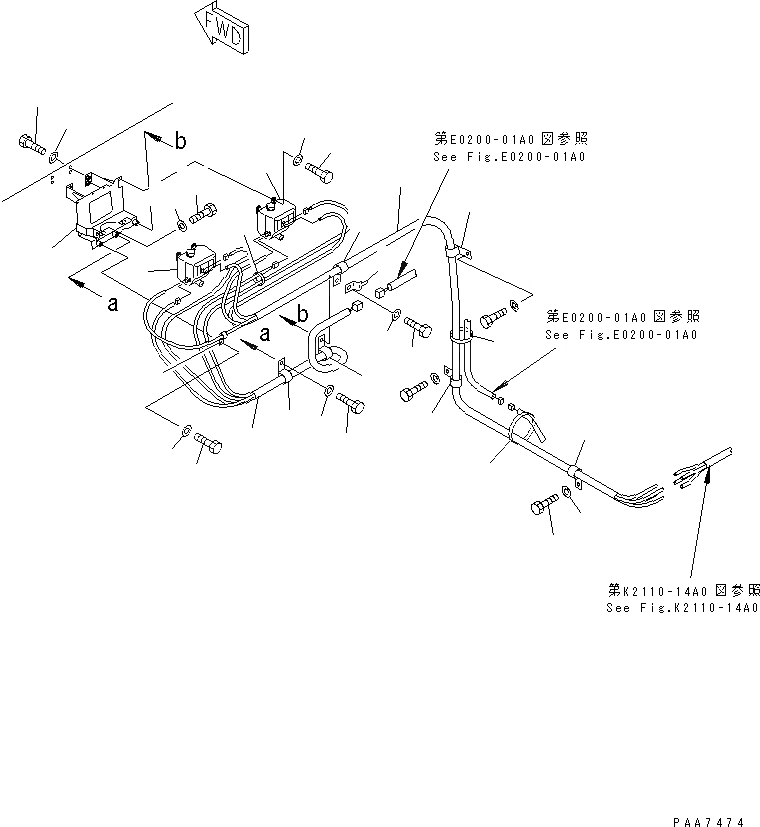 08053-00910 Komatsu ЗАЖИМ