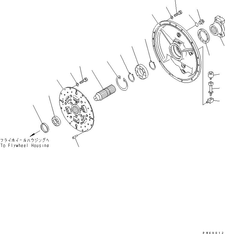 23S-12-11330 Komatsu ПЛАСТИНА