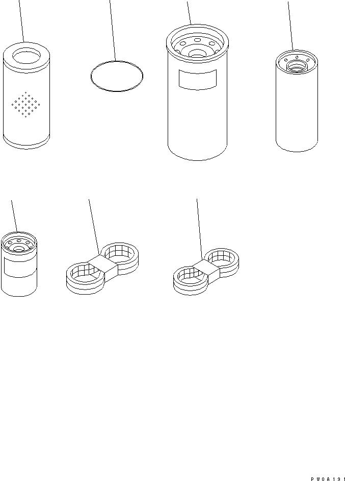 07063-01054 Komatsu Фильтр гидравлический
