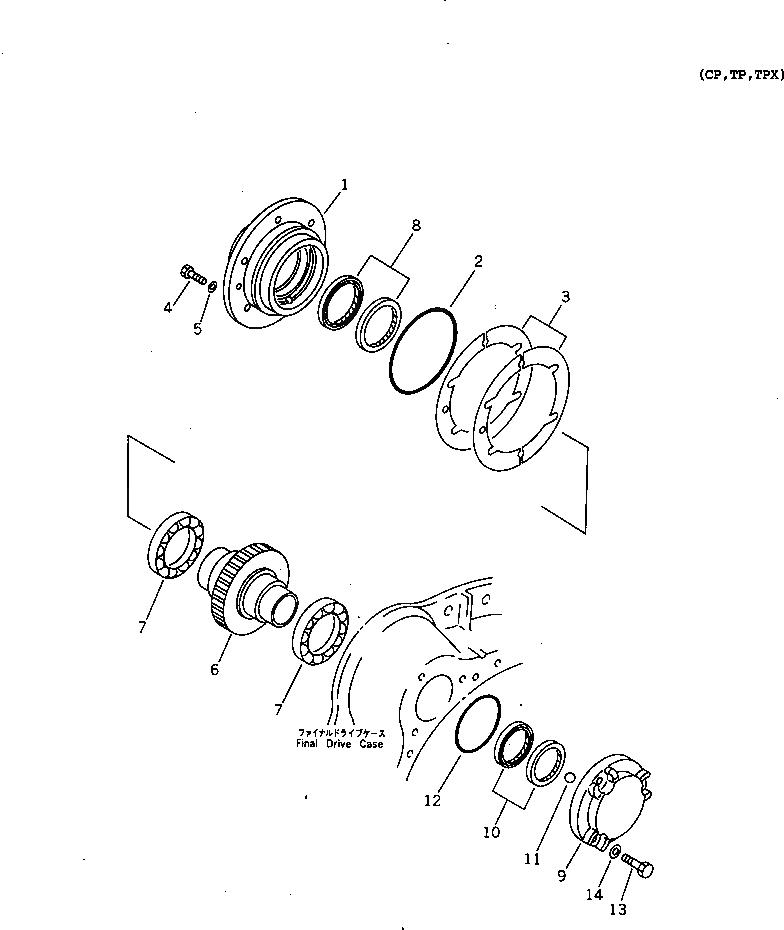 14X-27-00320 Komatsu КОНЕЧНЫЙ ПРИВОД В СБОРЕ