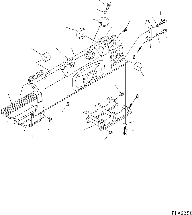 14Y-30-16133 Komatsu ЗАЩИТА