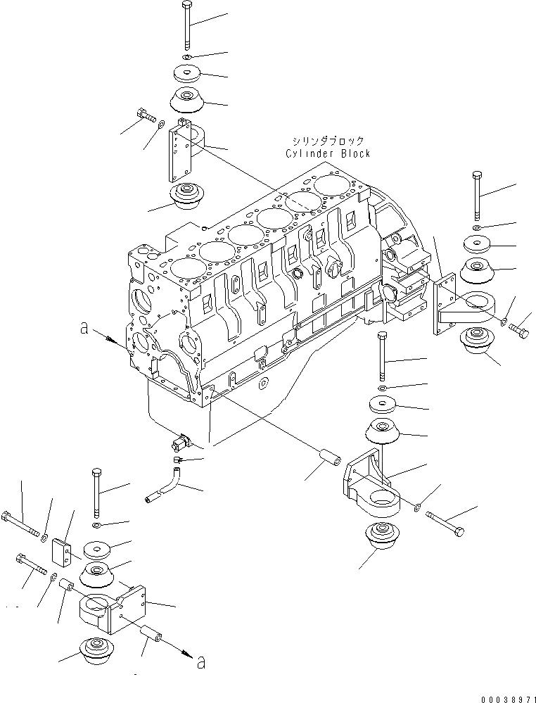 207-01-35140 Komatsu ПОДУШКА