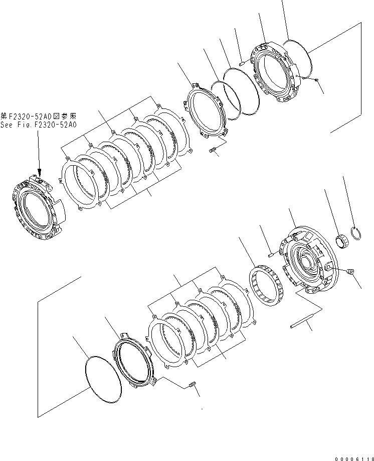 14X-15-29321 Komatsu ПОДШИПНИК ИГОЛЬЧАТЫЙ