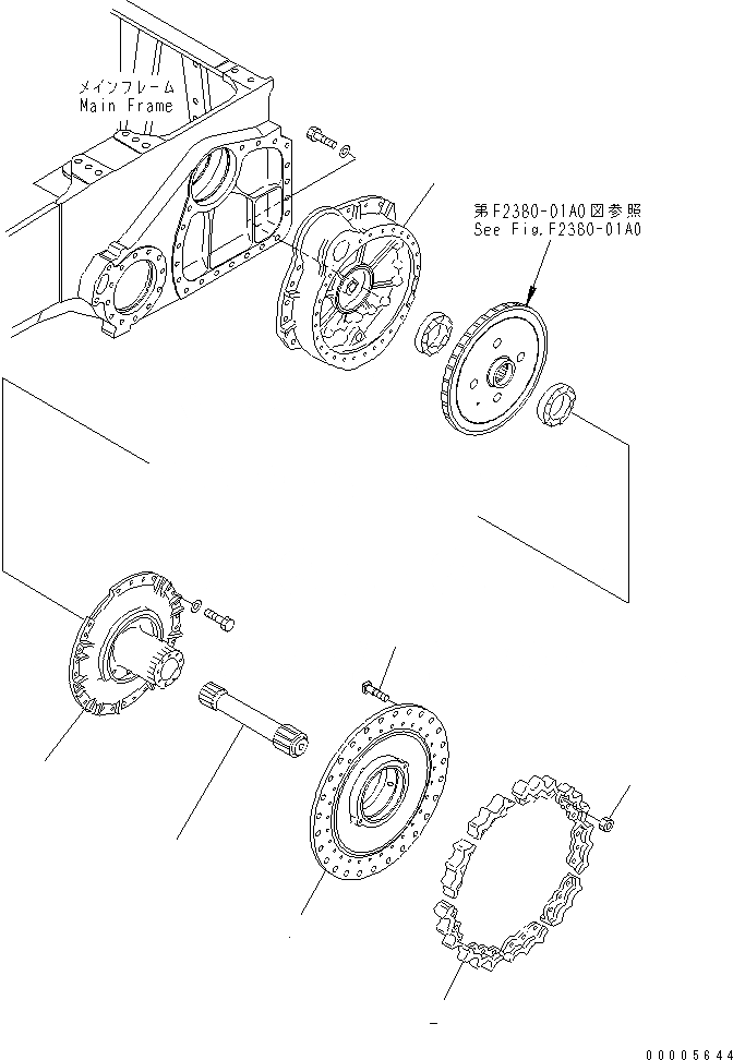14X-27-15211 Komatsu зубья звездочки