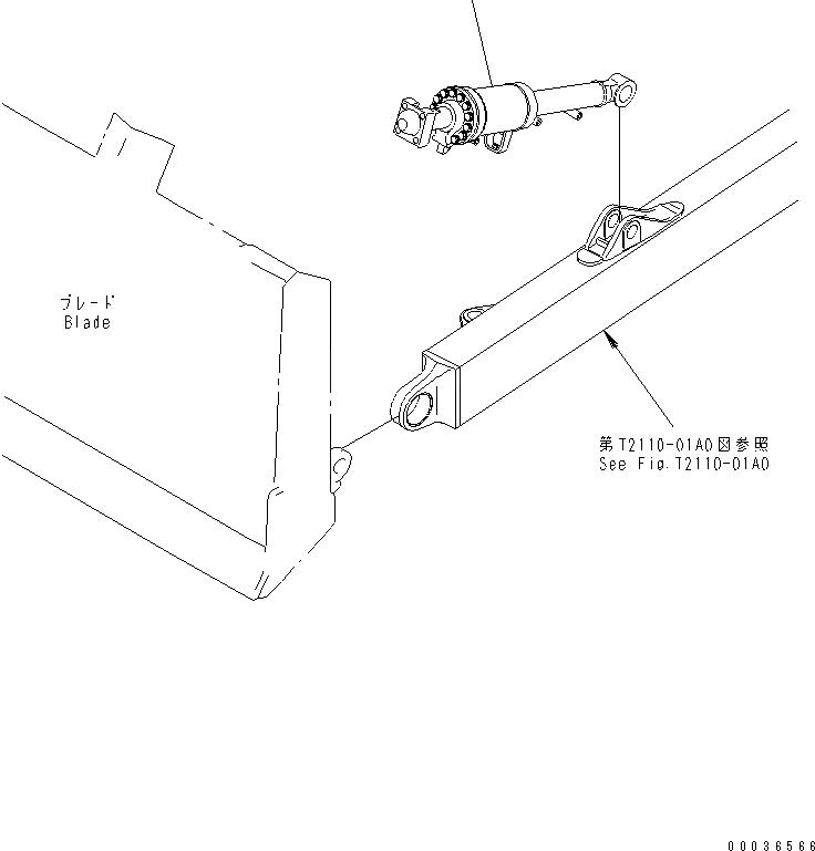 14Y-63-01032 Komatsu ЦИЛИНДР В СБОРЕ
