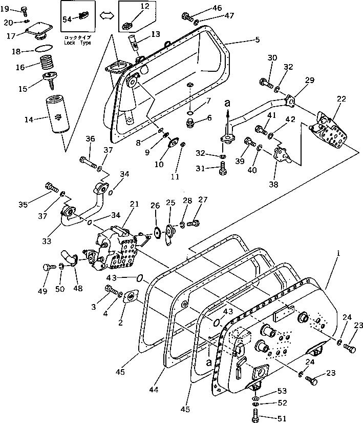 144-60-11160 Komatsu Фильтр гидравлический лебедки