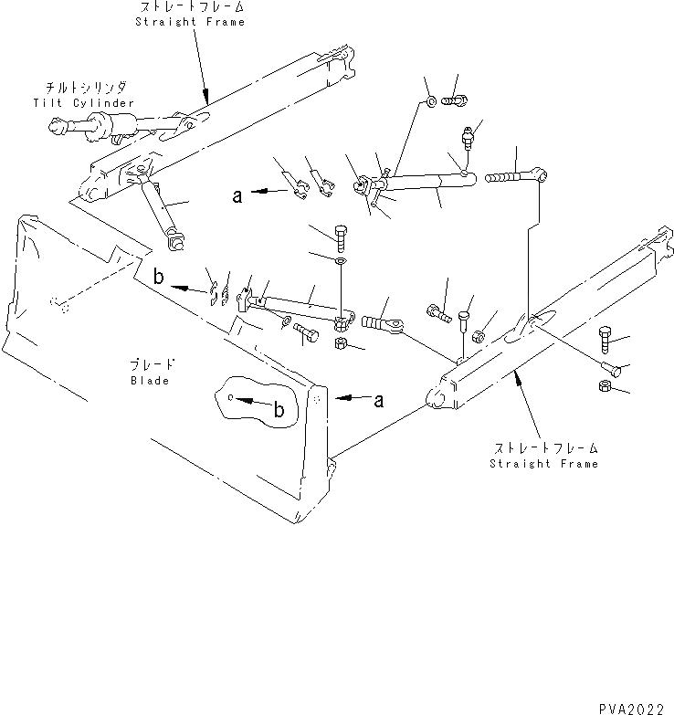 14Y-71-13110 Komatsu УПОРНЫЙ КРОНШТЕЙН ОТВАЛА