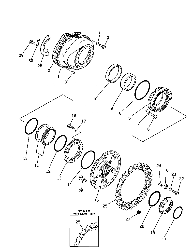 01803-02228 Komatsu Гайка сегмента