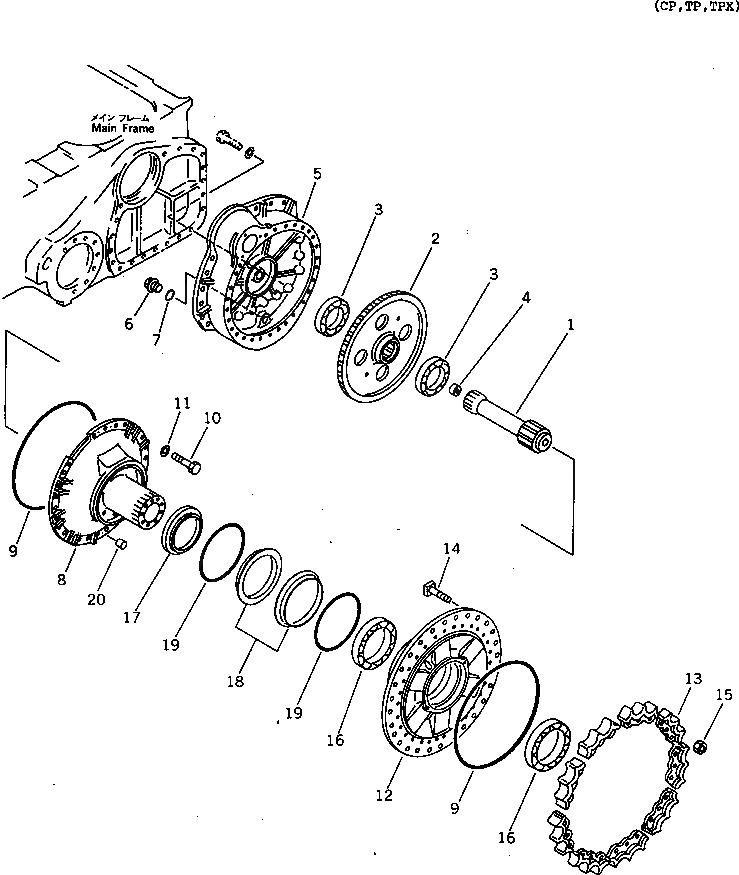 14X-27-11751 Komatsu ШАЙБА