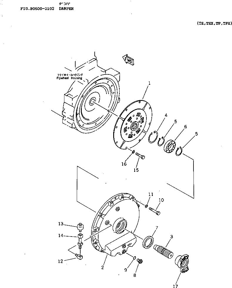 14X-12-11102 Komatsu ДИСК СЦЕПЛЕНИЯ