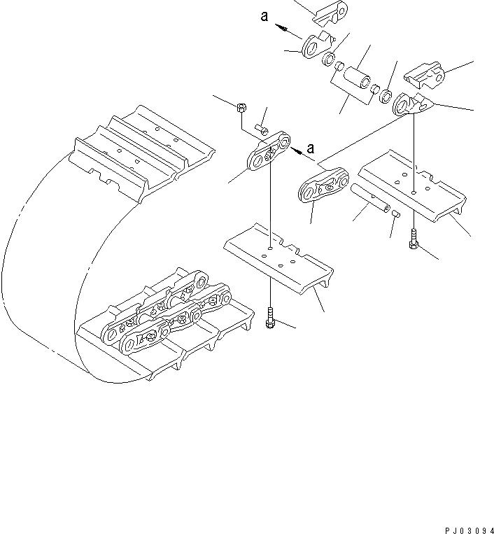 154-32-31220 Komatsu Гайка башмачная