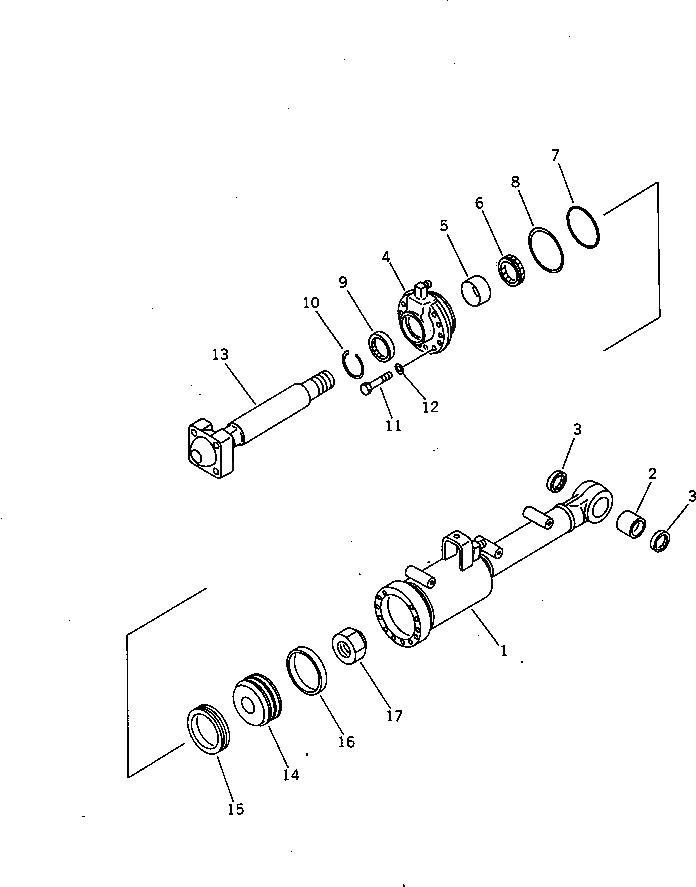 14Y-63-52121 Komatsu ШТОК
