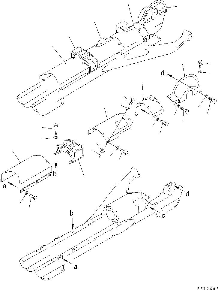 154-30-11274 Komatsu СУППОРТ