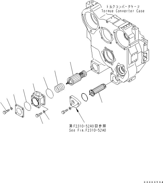 569-15-51510 Komatsu ФИЛЬТРУЮЩАЯ КАССЕТА ДЛЯ ГИДРАВЛИКИ