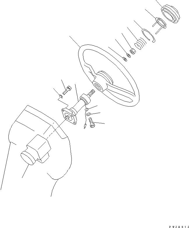 23D-40-11100 Komatsu ОСЬ КРЕПЕЖНАЯ В СБОРЕ